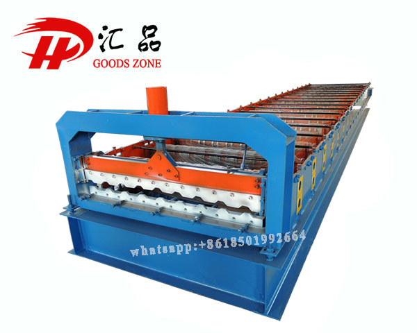 C21 Colour Coated Tile Profile Roofing Sheets Panel Roll Forming Machine
