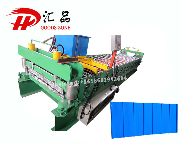 910 Type Bare Galvalume Roofing Wall Profile Sheet Roll Forming Machine